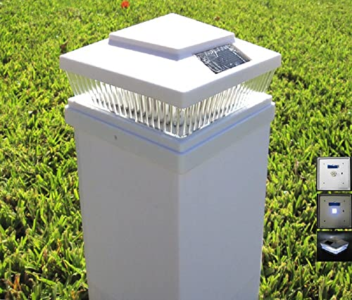 Plastic White 5 X 5 Outdoor 5 LED 78Lumens Solar Post Cap Light Pack of 12