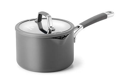 Calphalon Easy System Nonstick Sauce Pan, 2 1/2 qt, Black