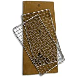 Hellfire Bushcraft Grill Stainless Steel Campfire Cooking Grate (2-Pack) Portable Camping Grate for Fire Cooking BBQ…