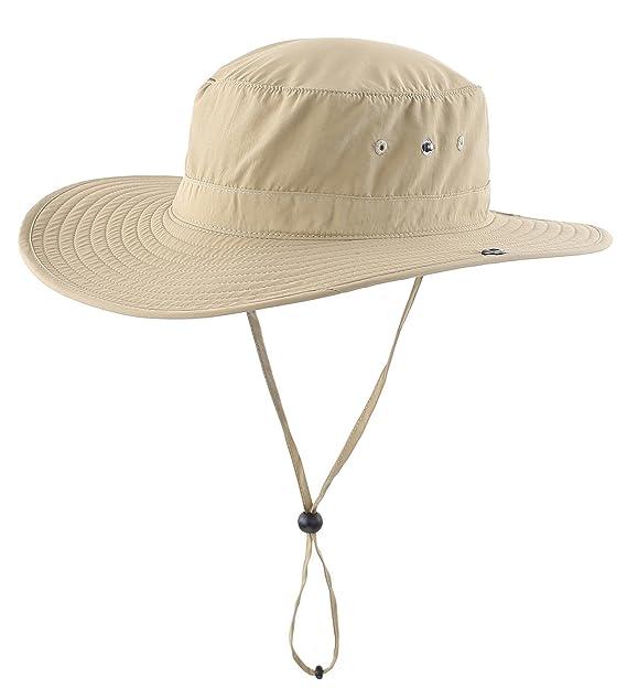 Decentron uomo outdoor cowboy cappello da sole cappelli di pesca con  stringa di estate cappello a d13247a36c05