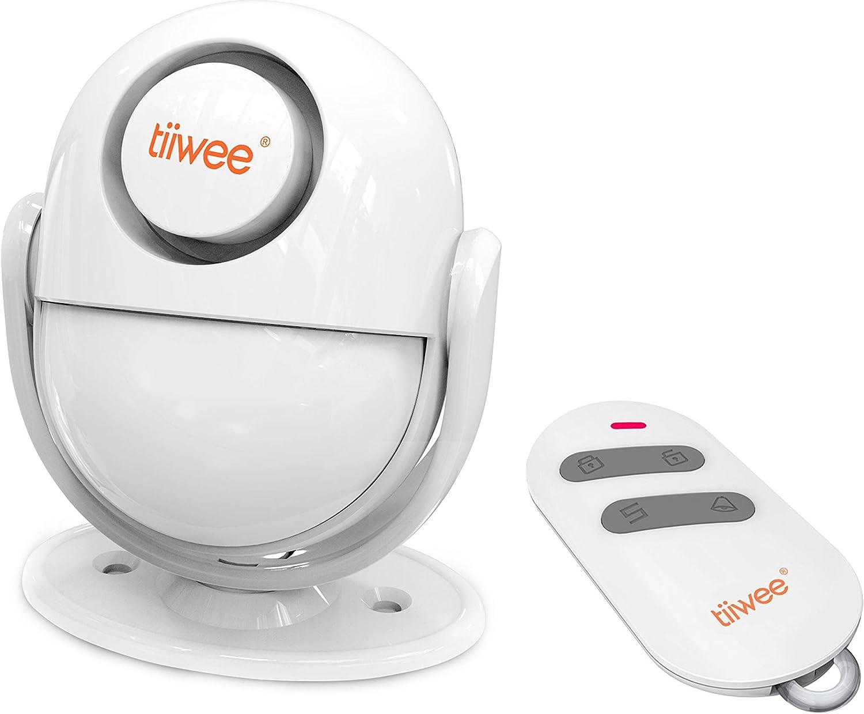tiiwee A2 PIR Détecteur de Mouvement - Système d'Alarme avec Télécommande - 125 DB Sirène - Extensible - Sécurité de la Maison - Antivol Anti-Intrusion - 2 Ans de Garantie