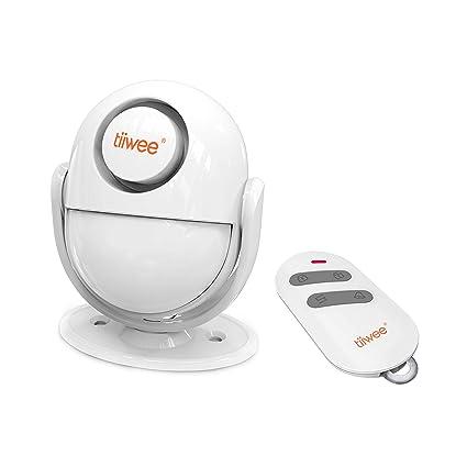 tiiwee A2 Sistema de alarma Antirrobo de Sensor de Movimiento PIR con Control Remoto - Sirena