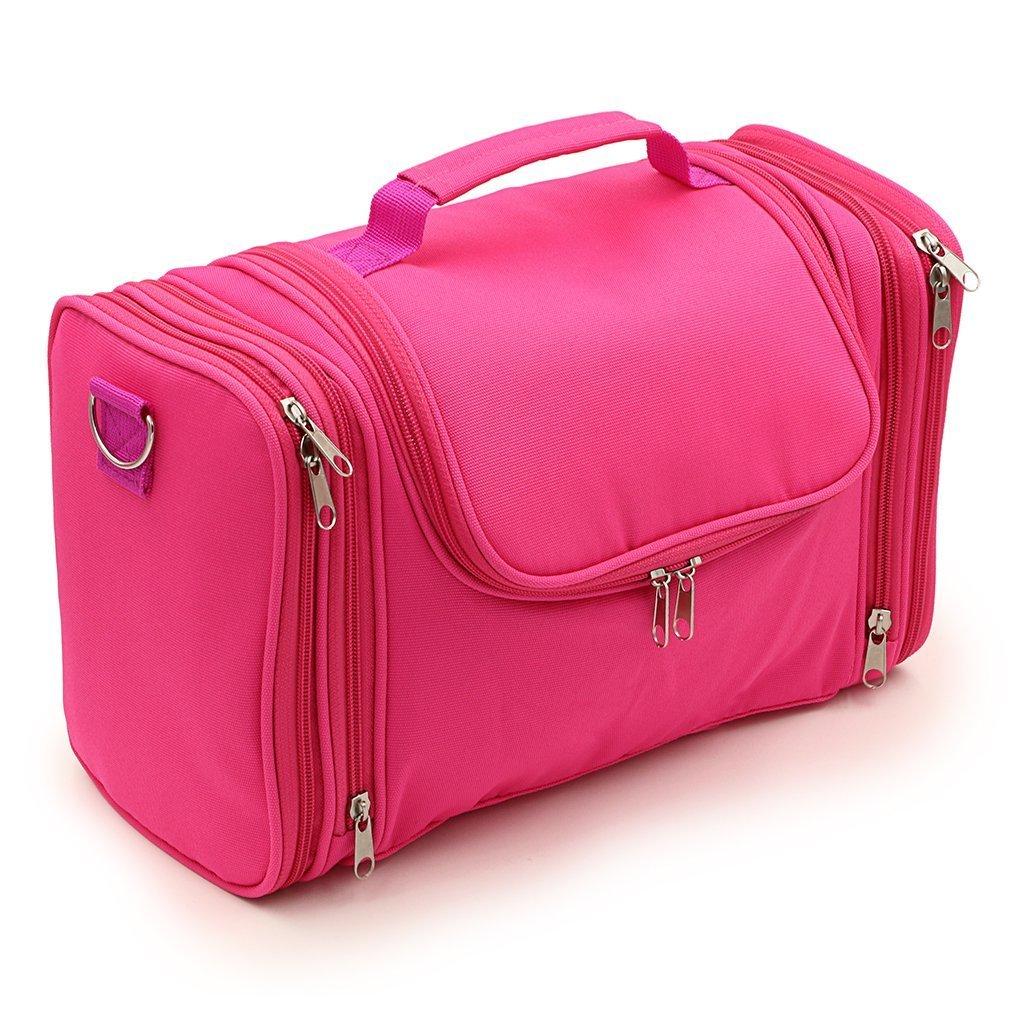 Hipiwe Large Hanging Travel Toiletry Bag / Shaving Grooming Dopp Kit / Makeup Bag Organizer / Household Bathroom Storage Pack for Business and Vacation (Black)