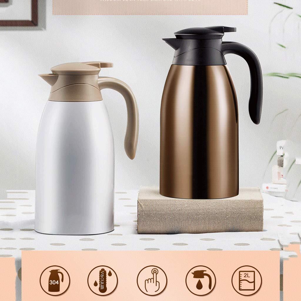 FYCZ 2L Vakuum Krug, 304 Edelstahl Doppelwand Vakuumisolierte Kaffeekanne Kaffee Kolben Saft Milch Tee
