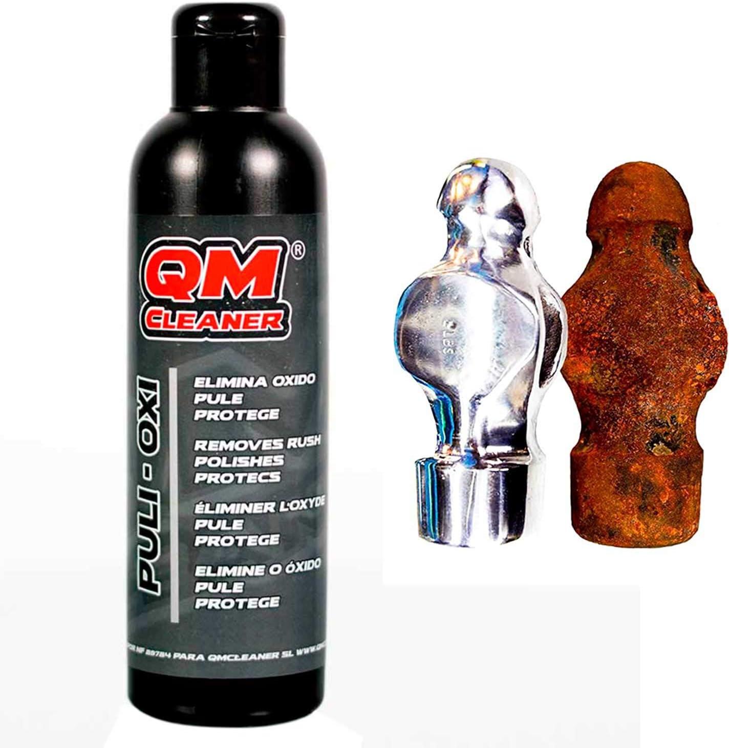 QM Cleaner Puli-Oxi Mini | Limpiador de Óxido Rápido y Eficaz. Elimina y Protege del Óxido de tubos de escape, acero, latón, cromados, colectores, loza…