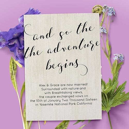 amazon com elopement announcement card wedding announcements cards