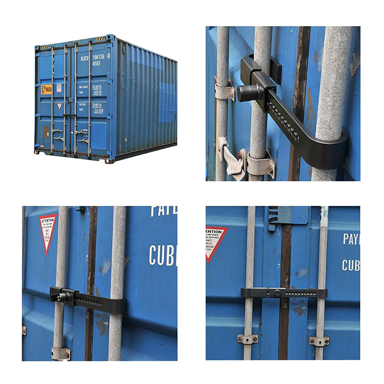 Containerschloss aus geh/ärtetem Stahl 22-43 cm Zylinderschloss Schutzkappe