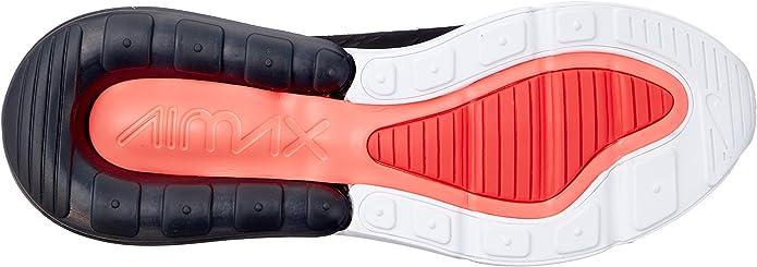 Nike Herren AIR MAX 270 Fitnessschuhe, Mehrfarbig (BlackAnthraciteWhiteSolar Red 002), 44 EU