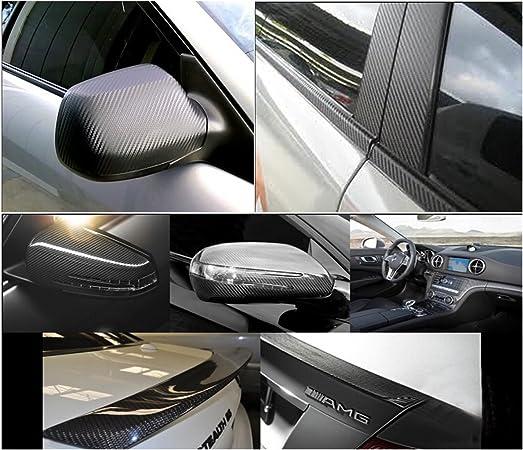AUDEW - Rollo de vinilo autoadhesivo para coche, fibra de carbono, 3D, 152,4 x 30,48 cm, vinilo adhesivo para coche, lámina de vinilo autoadhesiva, rollo de vinilo (negro): Amazon.es: Coche y moto
