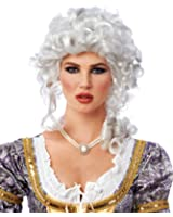 Costume Culture by Franco LLC White Curly Colonial Marie Antoinette Costume Adult Wig
