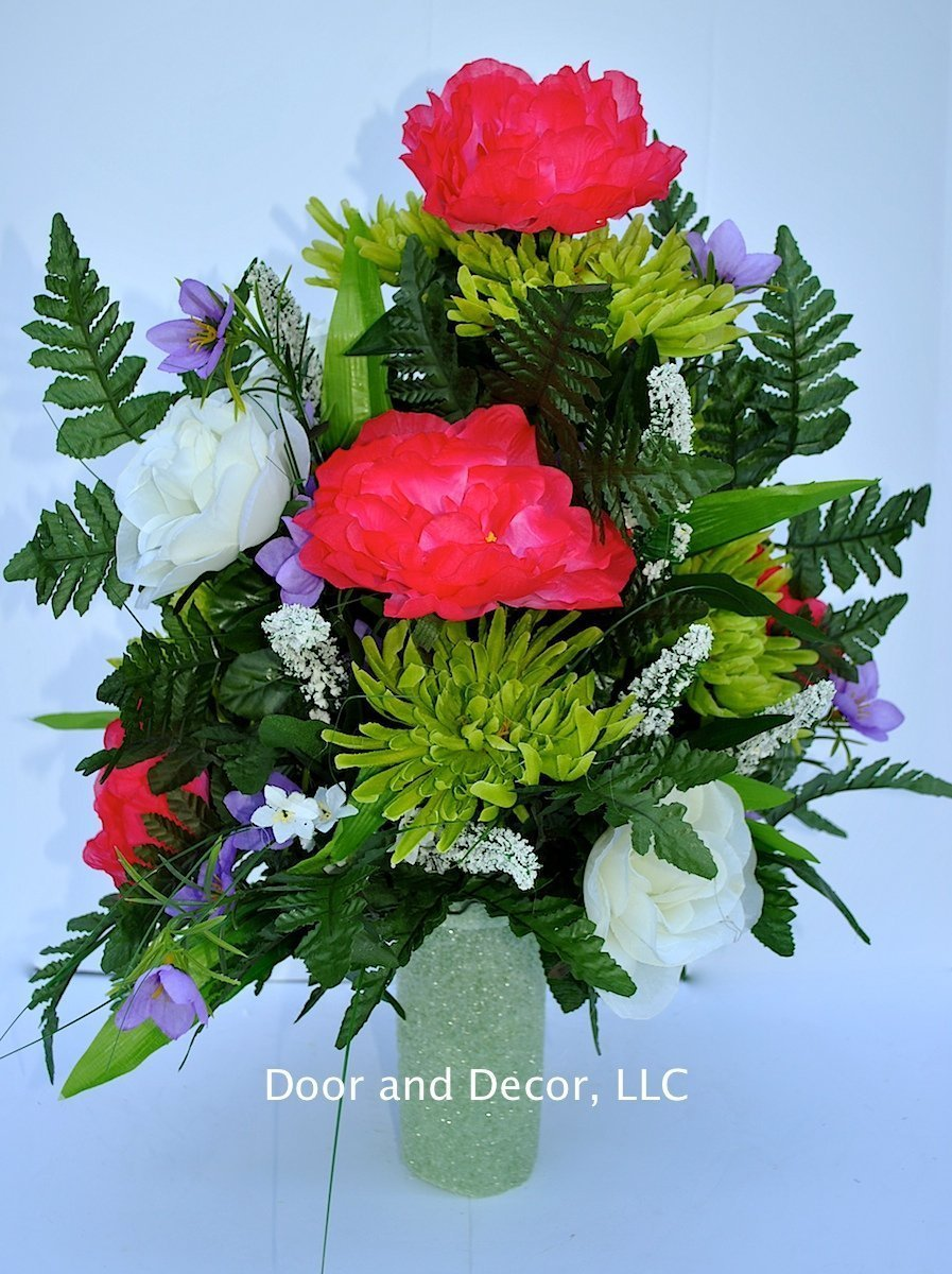 Amazon Cemetery Grave Decorations To Fill Grave Vase Flower