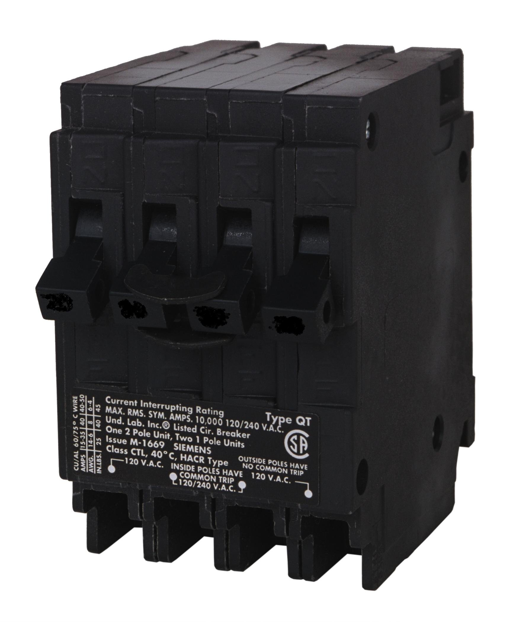 Murray MP23015 One 30-Amp Double Pole and Two 15-Amp Single Pole Circuit Breaker