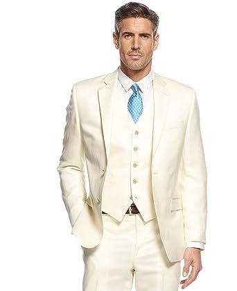 d8d1c3ec07 Ralph Lauren Men's Off-White Linen Suit-Separates Sport Coat Blazer ...