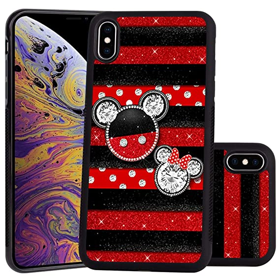 DISNEY COLLECTION Mickey Mouse Design for Apple iPhone Xs Max 6.5-inch Case Soft TPU and PC Tired Case Retro Stylish Classic Cover