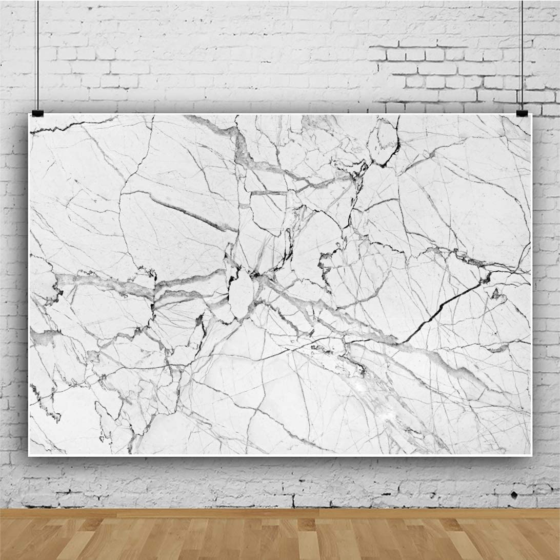 YEELE 15x10ft Marble Photography Background Marble Texture Surface Cracks Photo Backdrop Rock Fracture Pattern Pictures Kids Adults Artistic Portrait Photoshoot Props Vinyl Wallpaper