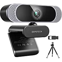 4K Webcam, 2021 DEPSTECH HD 8MP Sony Sensor Autofocus Webcam with Microphone, Privacy Cover and Tripod, Plug and Play…
