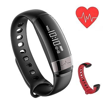Fitness Tracker Monitor de frecuencia cardiaca – joroto pulsera inteligente actividad ejercicio relojes impermeable inalámbrica Bluetooth