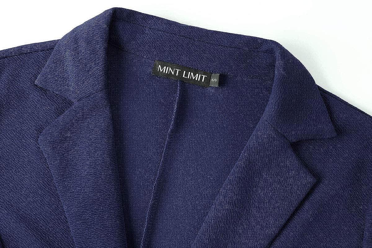 MINTLIMIT Damen Casual Arbeit B/üro Blazer Seitentaschen Knopf 3//4 /Ärmel Suits Jackes