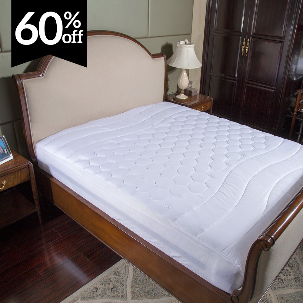 Mattress Pad Twin XL / Twin Extra Long Size Hypoallergenic - Antibacterial, Breathable