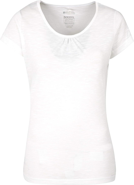 Estiva Stile Casual Maglietta da Donna Traspirante Mountain Warehouse Agra ad Asciugatura Rapida Escursioni Leggera per Sport allaperto