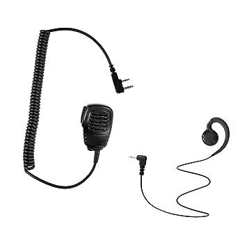 For Kenwood Speaker Shoulder Lapel Microphone 3.5MM Listen Only Coiled Ear Piece