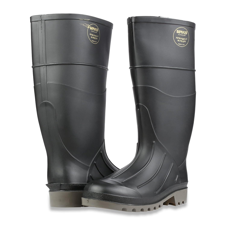 18802 Servus Iron Duke 15 PVC Polyblend Soft Toe Mens Work Boots Black /& Gray