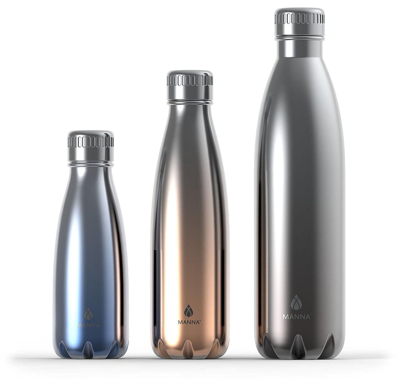 Amazon.com: Manna metálico Insulated Vogue Botellas, Plata ...