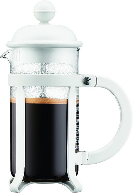 Bodum - 1903-913 - Java - Cafetera 3 Tazas - 0,35 l - Color Blanco ...