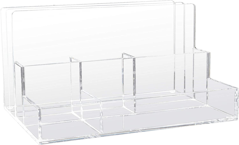 "Kantek Acrylic File Sorter Desk Desktop Organizer, 10.6"" x 11"" x 6.5"", Clear"