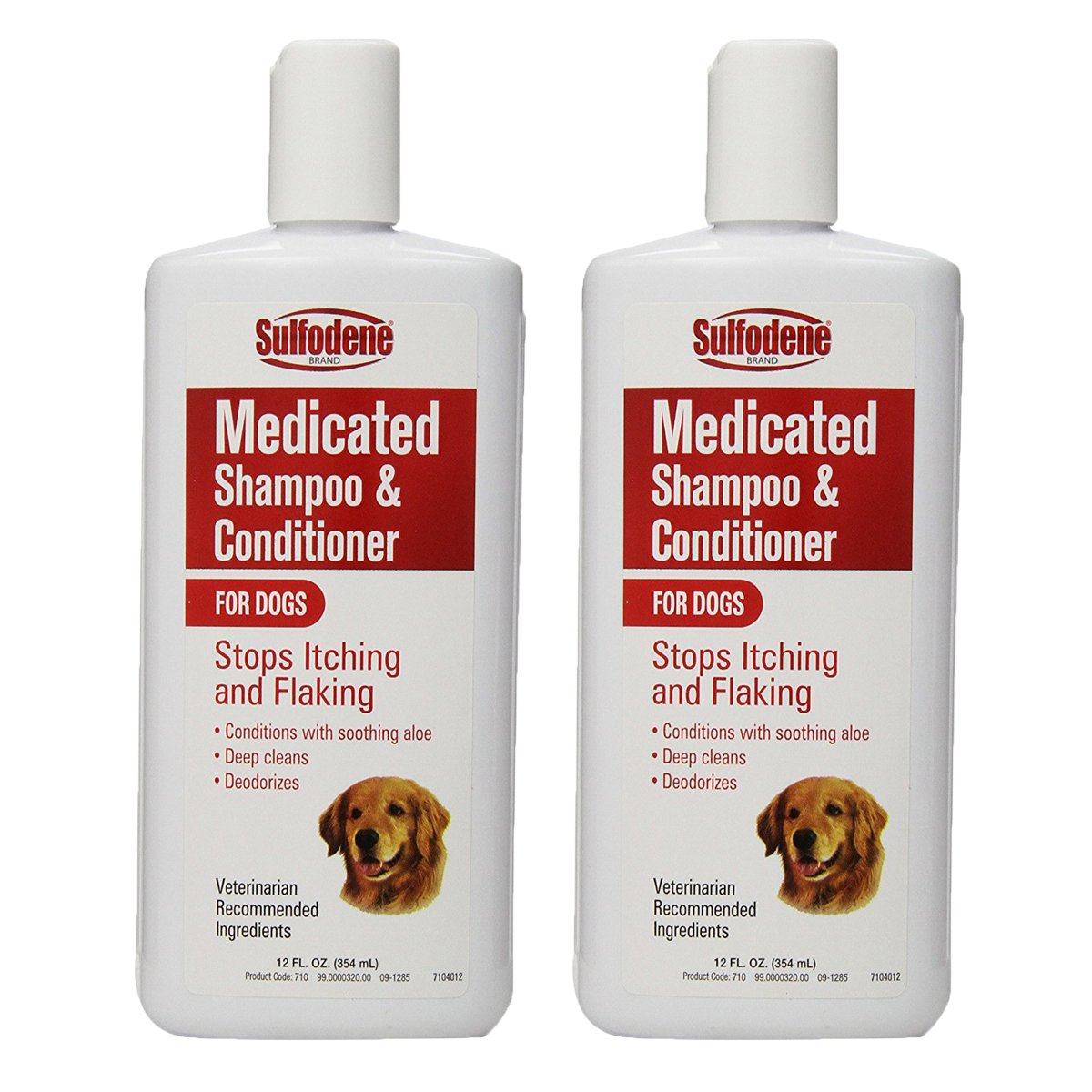 Sulfodene Medicated Shampoo & Conditioner for Dogs, White