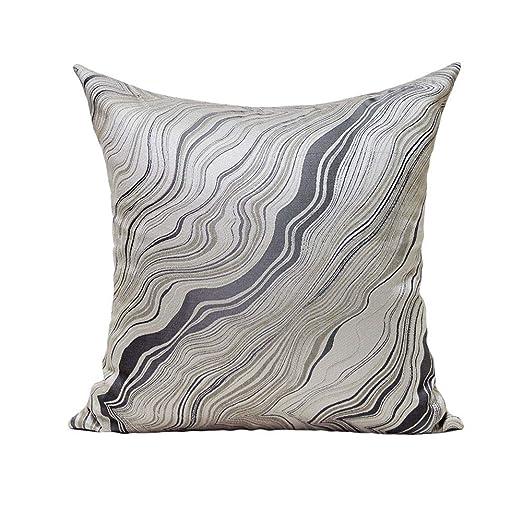 Sherwy Almohada cuadrada minimalista Almohadas suaves grises ...