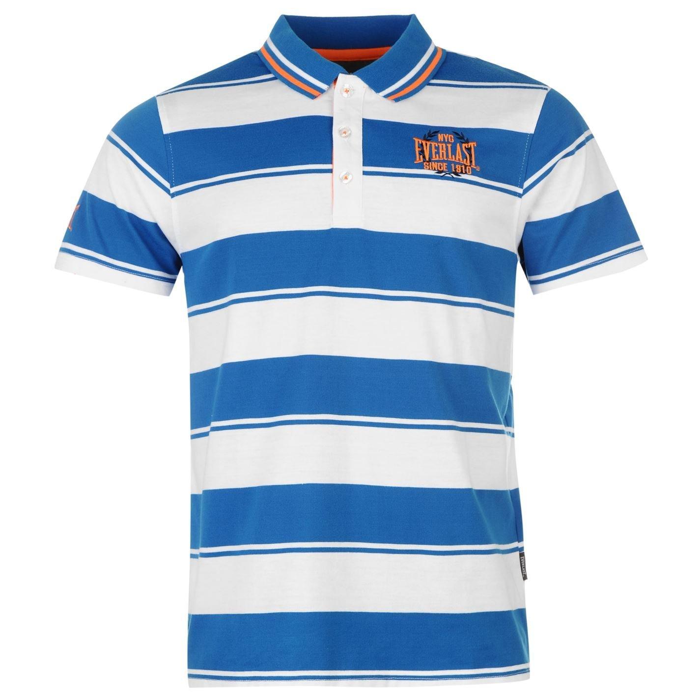 Everlast Yarn Dye Bold Stripe Herren Polo T Shirt Kurzarm Freizeit Polohemd  Tee: Amazon.de: Bekleidung
