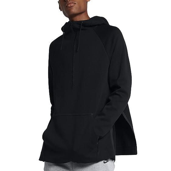 Nike Mens Sportswear Tech Fleece Half Zip Hoodie (Negro, Small)