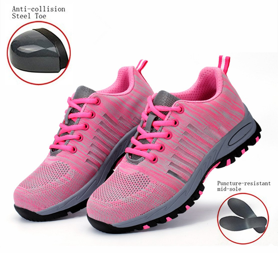 GUDUN Women Breathable Steel Toe Shoes for Women Steel Toe Cap Shoes (9-15 Days to delivery) (39, GDW-3)