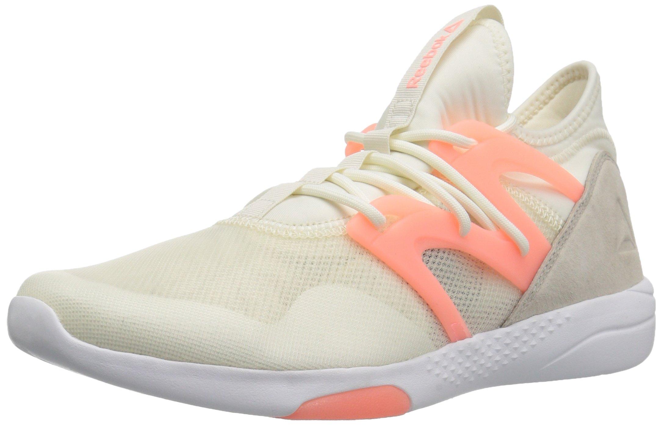 Reebok Women's Hayasu Track Shoe, Chalk/Sand Stone/Sour Melon/White, 8 M US