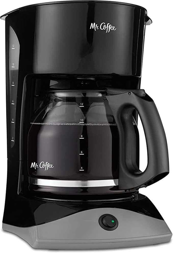 Mr. Coffee 12-Cup Coffee Maker, Black   Amazon