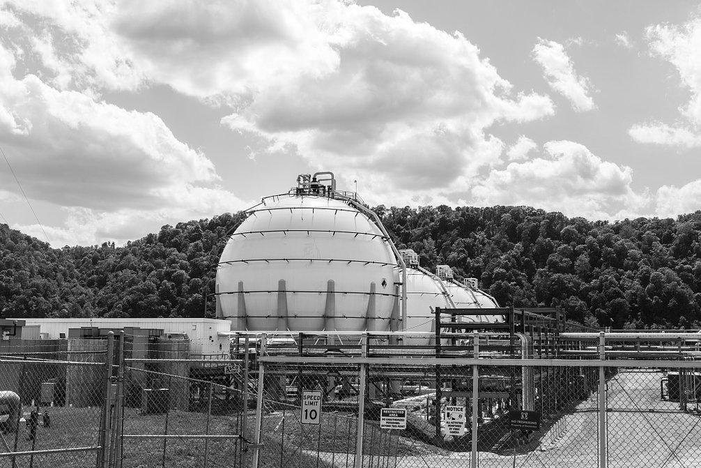 18 x 24 B&W Photo Part PVS Technologies' Natrium Facility, Along The Ohio River in Marshall County, West Virginia 2015 Highsmith 00a