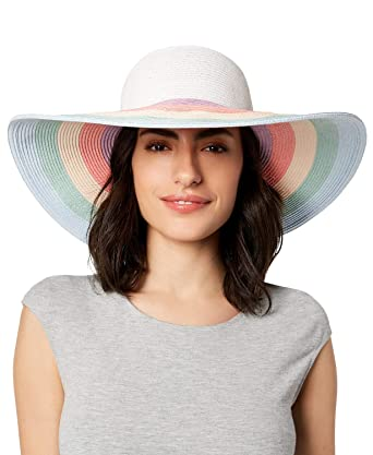 1fef7cde770eb6 Image Unavailable. Image not available for. Color: AUGUST HAT COMPANY  Women's Rainbow Floppy ...