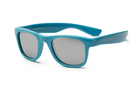 koolsun bebés y niños gafas de sol Wave Fashion 1 + | Cendre Blue VERS piegelt | 100% protección UV | Optical Clas 1, cat. 3