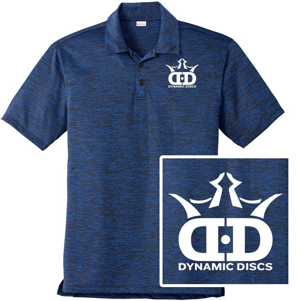 ダイナミックDiscsディスクゴルフパフォーマンスヘザー半袖ポロシャツ ブルー B07CTV6DM2 Large Large ブルー ブルー Large ブルー Large, 福島そらや:4d4597a4 --- webshop.mrf.se