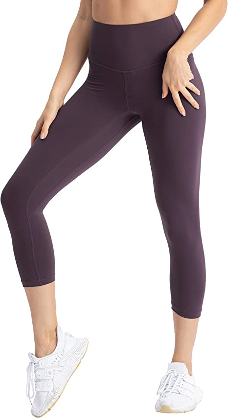 Hopgo Womens High Waist Yoga Pants Butter Soft Gym Legging Naked Feeling Capri Tights