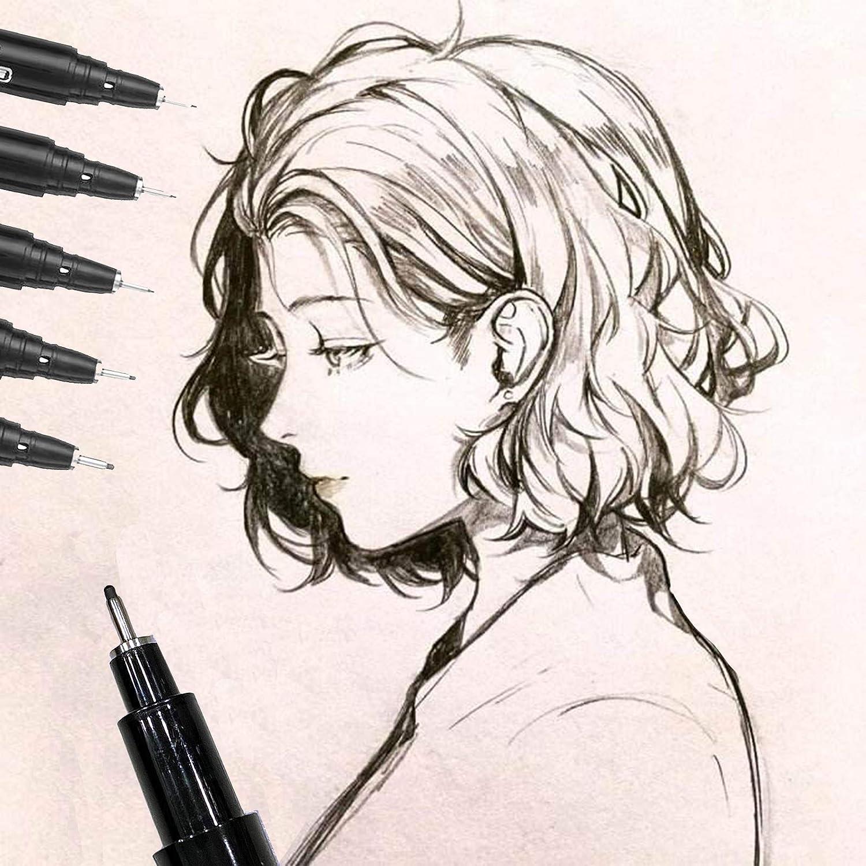 Johiux Pennarelli per Lettering 9 Calligrafia Pennarelli Art Schizzo Lettering. Lettering Ricarica Penne Calligrafia Pen Nero Per Disegno