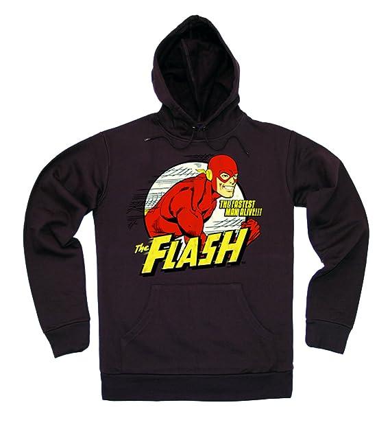 Logoshirt DC Comics - Superhéroe - Flash - El Hombre Más Rápido del Mundo Sudadera con Capucha - Suéter con Capucha - con Bolsillo - Marrón - Diseño ...