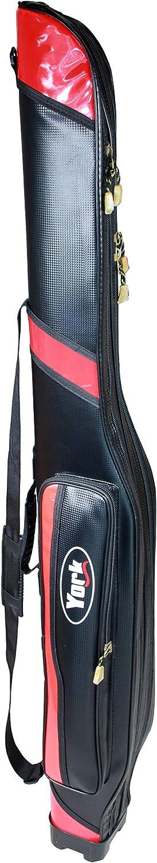 Rutenfutteral York Black/&Red Rutentasche Futteral 130//145//160cm 2 F/ächer TOP !
