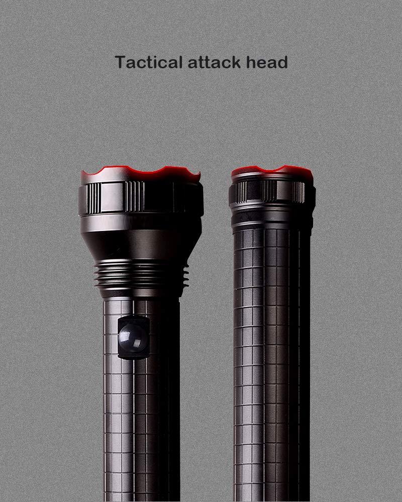 Tattu D3 Taschenlampe 3 D-Cell LED Stablampe Schwarz