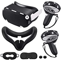 for Oculus Quest 2 Accessories, Quest 2 VR Silicone face Cover, VR Shell Cover,Quest 2 Touch Controller Grip Cover…