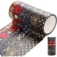 Washi Tapes Set, 12 rollen Halloween Washi Tape Set Goud Stempelen Masking Tapes DIY Scrapbooking Decoratieve Tape Washi…