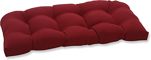 Pillow Perfect Outdoor/Indoor Pompeii Tufted Loveseat Cushion, 44
