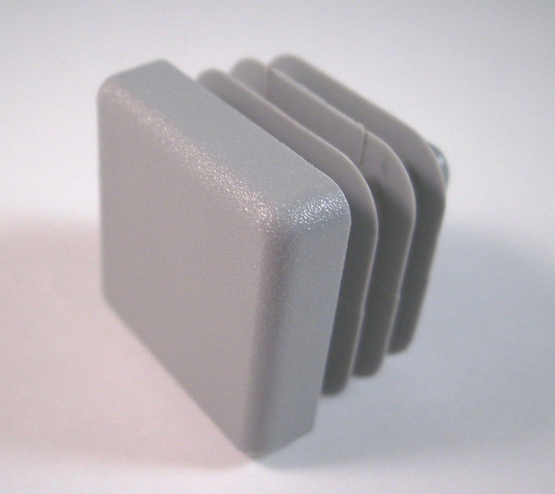 4 tappi per tubi quadri dimensioni esterne 50x50 mm grigio