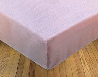 product image for Sherpa Sheets - Seal Fur Fitted Bed Sheet - Thick Pile Velvety Fleece… (Rosewater, Twin)